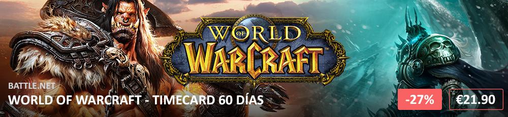 World of Warcraft Timecard 60 1000X232