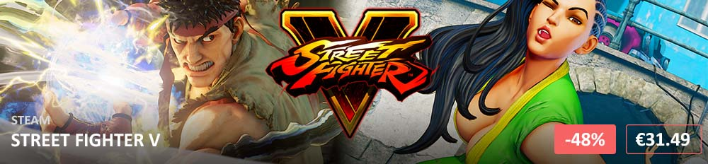 Street Fighter V 1000x232