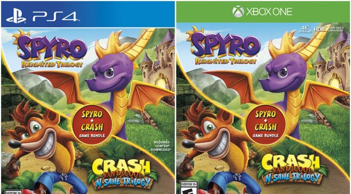 Spyro + Crash Remastered Game Bundle Covers