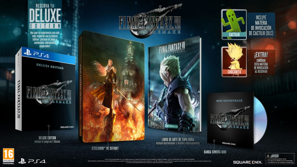 Final Fantasy VII Remake Deluxe Edition